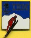 France Pin´s IBM partenaire officiel des Jeux olympiques d´hiver d´Albertville - Le saut à ski