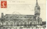 miniature Cpa 75 Paris , la gare de lyon * calèches,   voyagée 1922