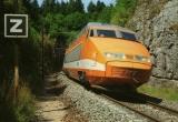 miniature RU 0126 - TGV Sud-est rame n° 118 traversant la forêt de la Joux - 39 - SNCF