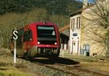 miniature ACACF 107 - Autorail X 73577 en gare - ALET LES BAINS - Aude 11 - SNCF