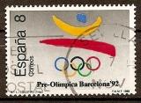 miniature Espagne 1992 YT 2579 Obl Jeux Olympiques Barcelone Emblème