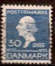 miniature Danemark 1935 YT 234 Obl Ecrivain Hans Christian Andersen