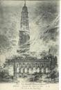 miniature Cpa  62 Arras , guerre 14 , incendie de l'hôtel de ville , écrite 1916