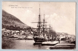 miniature GIBRALTAR -  South View of the Town and new Mole - circ 1907 avec timbre