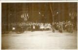 miniature CPA Funérailles du Maréchal Foch 1929 , ww1 , le clergé départ de Notre Dame , non voyagée