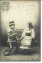 miniature Cpa Le petit soldat , amourette * l'assaut, écrite 1902