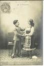 miniature Cpa Le petit soldat , amourette * victoire , écrite 1902