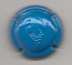 Capsule de champagne Grappe de raisin estampée sur fond bleu  Parfait état