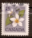Canada 1979 YT 712 Obl Fleur sauvage Violette du canada