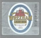 Etiquette de Bière - Grande Bretagne - Wrexham Lager Beer - 12 fl oz 355 ml