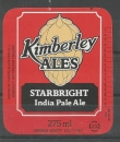 Etiquette de Bière - Grande Bretagne - Kimberley Ales Starbright India Pale - 275ml