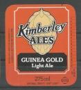 Etiquette de Bière - Grande Bretagne - Kimberley Ales Guinea Cold Light Ale - 275ml
