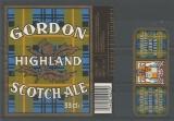 Etiquettes de Bière - Grande Bretagne - Gordon Highland Scotch Ale - 33 cl - code barres
