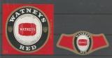 Etiquettes de Bière - Belgique - Watneys Red - Luxe Bier - Cat I - Bière de Luxe