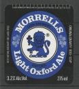 Etiquettes de Bière - Grande Bretagne - Morrells Light Oxford Ale -  275 ml - 3.2% Alc Vol