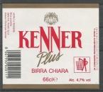 Etiquette de Bière - Italie - Kenner Plus Birra Chiara - 66 cl - Code Barres