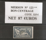 miniature n° 123 . * *merson bon centrage c 325 €