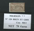 miniature  n° 120.tres beau merson * * c 500€