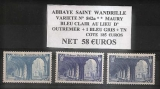 miniature SAINT WANDRILLE N° 842a MAURY VARIETE . BLEU CLAIR