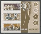 miniature Malte - Milled Malta 1973 - Tp n° Bloc - Neuf**