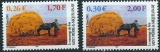 miniature Saint Pierre et Miquelon 741 742 2001  ramassage du foin neuf ** TB MNH SIN charnela