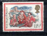 miniature Grande Bretagne 1982 YT 1498 Obl Noel Illustration de chants de Noel