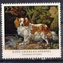 miniature Grande Bretagne 1991 YT 1511 Obl Chien King charles spaniel