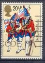 miniature Grande Bretagne 1983 YT 1095 Obl Armee britannique The Royal Welch Fusiliers