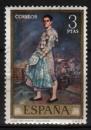 Espagne - 1971 -  n°1678 (YT) Journée du timbre , Oeuvres d'Ignacio Zuloaga   (O)