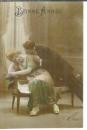 miniature Cpa patriotique , ww1 , couple et souhaits de bonheur et de victoire pour 1918 , voyagée 1917