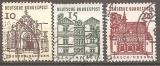 miniature Allemagne 1964-65 YT 322-324 Obl Edifices historiques