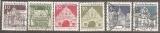 miniature Allemagne 1966 YT 358/360/386/391-392/394 Obl Edifices historiques