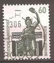 miniature Allemagne 1987 YT 1168 Obl Curiosites Statue de Bavaria Munich
