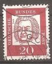 miniature Allemagne 1961-64 YT 225 Obl Musique Compositeur Bach
