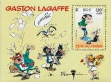 miniature FRANCE 2001 : yt 34 **/mnh # Bloc Gaston Lagaffe
