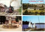 miniature Cpm 43 Chambon sur lignon , multivues - train - fontaine  , non voyagée