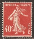 miniature FRANCE 1924  YT 194 type II Neuf - Semeuse 40 c vermillon