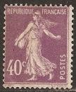 miniature FRANCE 1927  YT 236 Neuf - Semeuse 40 c violet