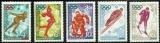 miniature Russie 1972 - Jeux Olympiques de Sapporo - Série complète neuve ** - N° 3809 3810 3811 3812 3813 .