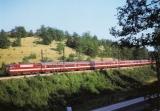 miniature ART 249 - Train le Capitole - loco BB 9292 entre CIEURAC et SEPT PONTS - 46 - SNCF