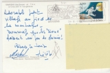 miniature  France adhésif  Y&T 3161  sur cpm 74 Samoëns