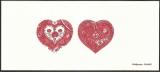 miniature France 2013 - Gravure sur papier Velin - Cœur d' Hermès - N° 4717 4718 - Saint Valentin .