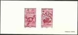 miniature France 2012 - Gravure sur papier Velin - Croix rouge - Solidarité chaleur - N° 4702 4703 .