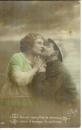 miniature Cpa Patriotique couple , ww1 , un baiser complète la danse ....., écrite 1916