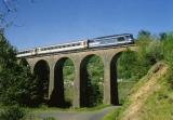 miniature RU 0345 - Train - loco BB 67506 sur le viaduc d'Elbarrat vers SAINT-JACQUES DES BLATS - 15