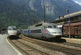 miniature RU 0819 - TGV Réseau rame n° 4504 en gare - MODANE - Savoie 73 - SNCF