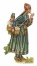 DECOUPIS gaufré Thibétaine et son enfant  parfait état 8  x 4 cm époque 1900