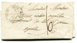 RIOM (62)  Puy-de-Dôme  cachet 11 sur lettre en port dû pour Aiguillon 1831