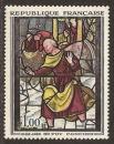 miniature FRANCE 1963 YT 1377 Neuf ** - Vitrail de l' église Ste Foy à Conches