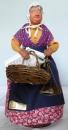 miniature Santon en argile Marchande de poissons de Christian Bourelly